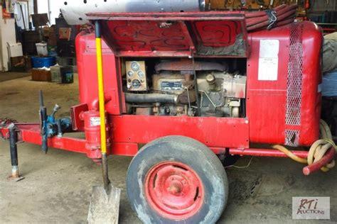 schramm 100 tow gas powered air compre december netauction rti netauctions