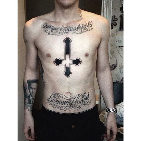 meaning of upside down cross tattoo cross religious by me tattoos