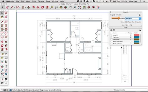 plan layout door sketchup floor plan tutorial doors and windows
