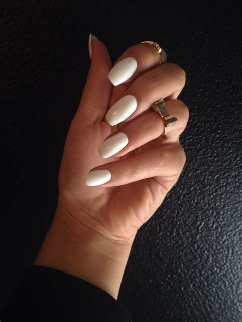 short coffin nails white short coffin shaped nails nails pinterest