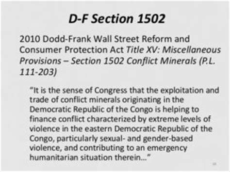 Dodd Frank Act Section 1502 Ecovadis