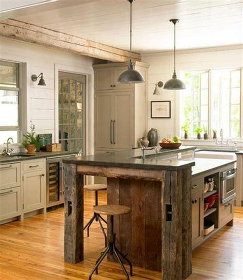 rustic kitchen island ideas d 233 co rustique et moderne comment les r 233 unir dans un m 234 me