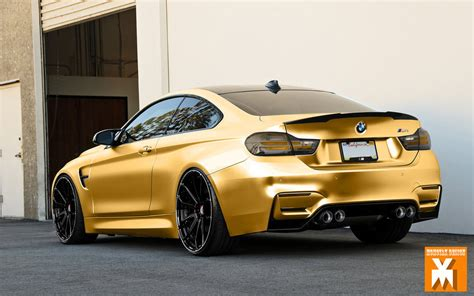 BMW f82 M4 in Matte Gold Chrome by MOMOYAK by MOMOYAK on