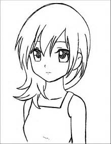manga coloring pages for kids coloringstar