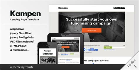 Ken Responsive Html Landing Page Template By Tansh Themeforest Woocommerce Landing Page Template