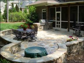 backyard patio landscape ideas for small spaces with wooden decks this for all