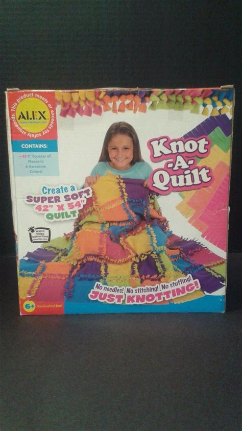 Www Alextoys Knot A Quilt by Alex Toys Knot A Quilt Kit Crafts Fleece Activity Craft Set Ages 6 Craft Kits