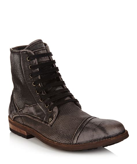 feud s black distressed leather boots designer
