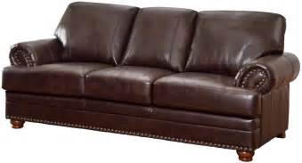 Bonded Leather Sofa Colton Traditional Bonded Leather Sofa With Rolled Arms Sofas 654 37 7