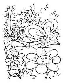 spring color page az coloring pages