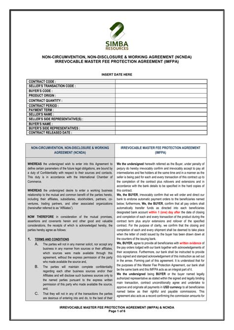 ncnd agreement template 28 images 100 ncnd agreement