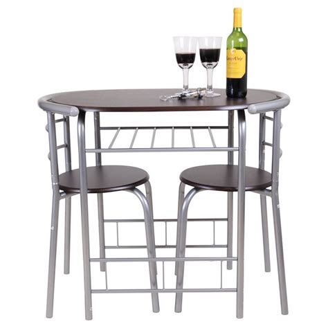 bistro tables for kitchen chicago 3 dining table and 2 chair set breakfast