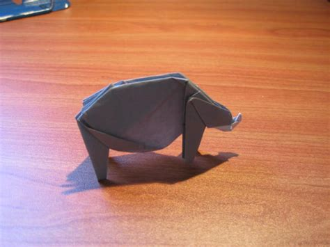 How To Make A Rhino Out Of Paper - origami rhino algorithm co il
