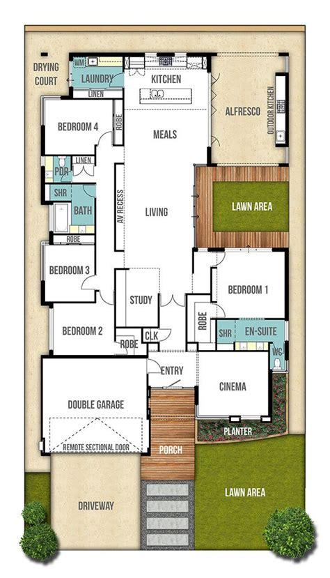 single storey house floor plan design best 25 single storey house plans ideas on pinterest