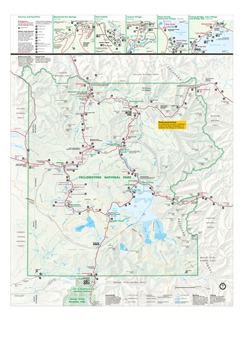 Pdf Tips For Cing At Yellowstone by Yellowstone Interactive Map Alltrips