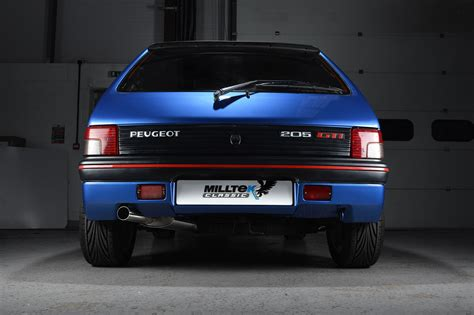 peugeot 205 weight peugeot 205 gti performance exhaust system by milltek classic