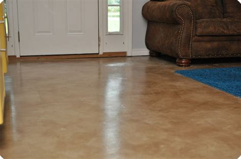 concrete living room floor dibble dabble life diy painted stained concrete living