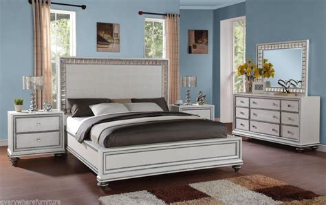 hollywood glamour furniture bedroom sets wynwood glam white mirrored king size mansion bed bedroom