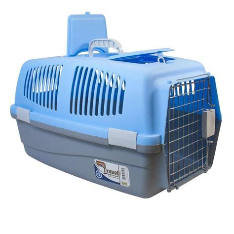 travel kennel large pet travel carrier cat rabbit basket plastic handle box crate cage ebay