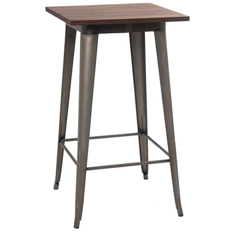 industrial series bar height table with metal legs and