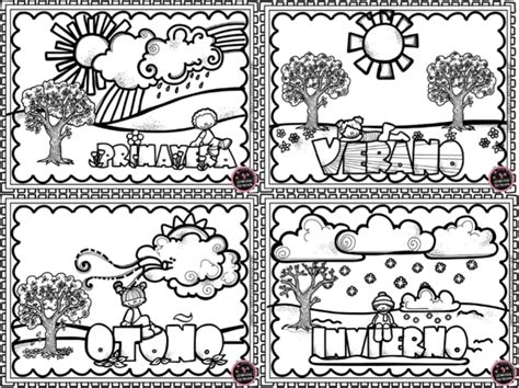 imagenes para colorear las estaciones del año maravillosos dise 241 os y actividades de las estaciones del