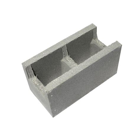 8 in x 8 in x 16 in restricted beam concrete block