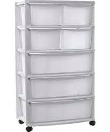 buy 7 drawer plastic wide tower storage unit white at