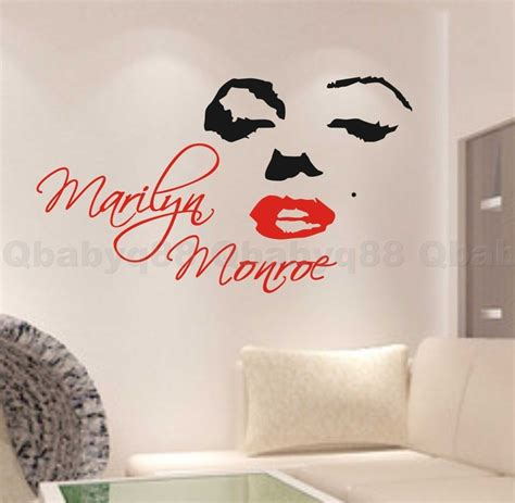 marilyn wall sticker marilyn wall quote decal removable stickers decor vinyl diy home gift ebay