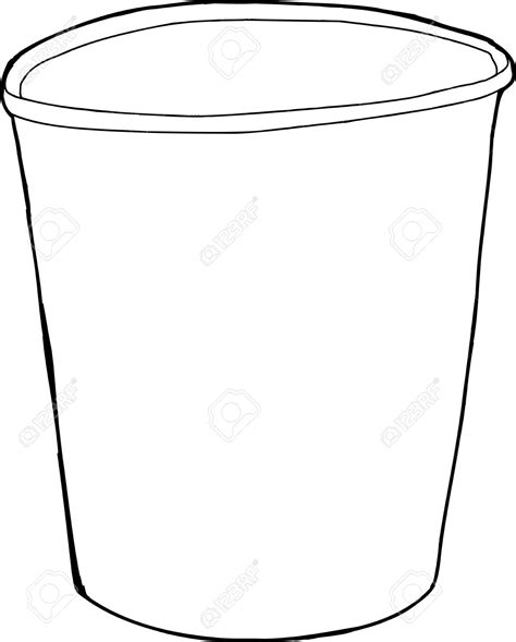 Cupped Outline by Cup Clipart Empty Cup Pencil And In Color Cup Clipart Empty Cup