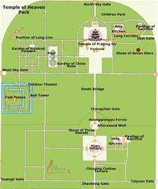 maps temple map of temple of heaven