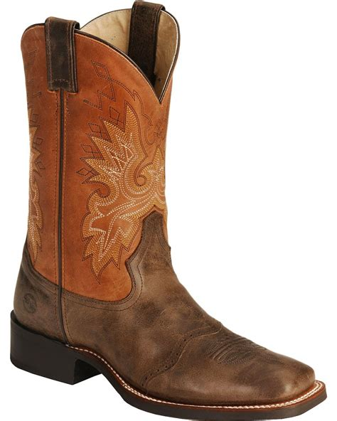 cowboys boots h roper cowboy boots wide square toe boot barn