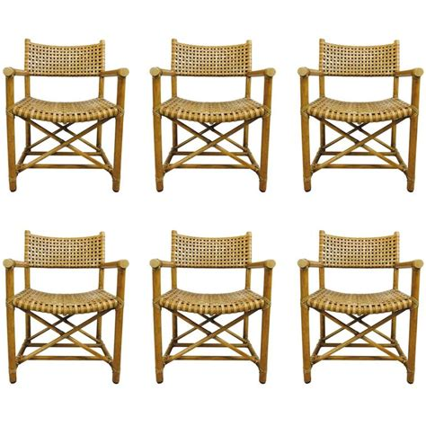 Mcguire Dining Chairs Set Of Six Rattan Dining Chairs By Mcguire For Sale At 1stdibs