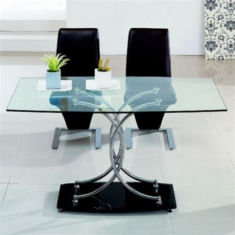 contemporary and modern dining tables glass top stainless