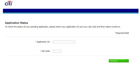 how to check your citi credit card application status