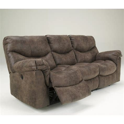 furniture reclining sofa furniture alzena reclining sofa in gunsmoke 7140088