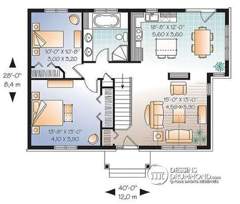 One Story House Plans With Two Master Suites d 233 tail du plan de maison unifamiliale w3117