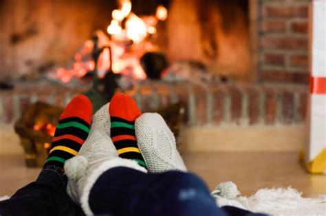 sock fireplace in socks near fireplace photo free