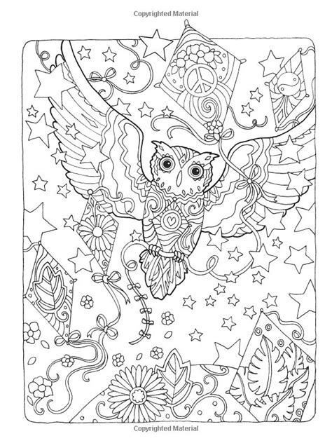 creative haven owls coloring book artwork by marjorie
