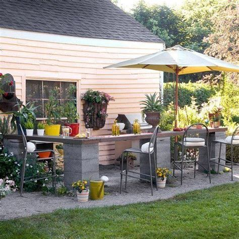 inexpensive outdoor kitchen ideas budget backyard 10 ways to use cheap concrete cinder