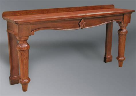 Victorian Style Console Table Turned Legs Timeless