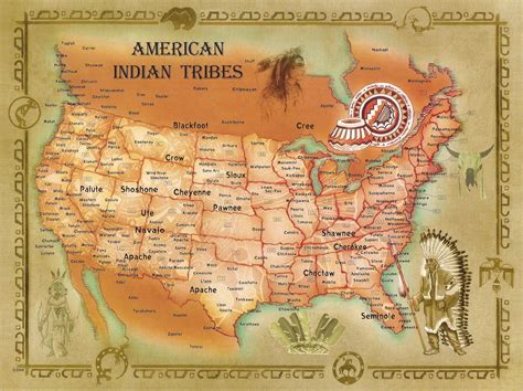 american tribes by map american indian tribes
