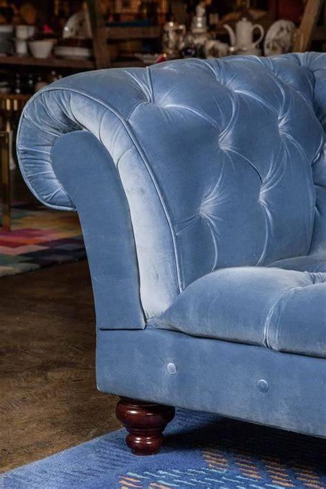 Bespoke Chesterfield Sofa Bespoke Blue Velvet Chesterfield Sofa By Pitfield For Sale At 1stdibs