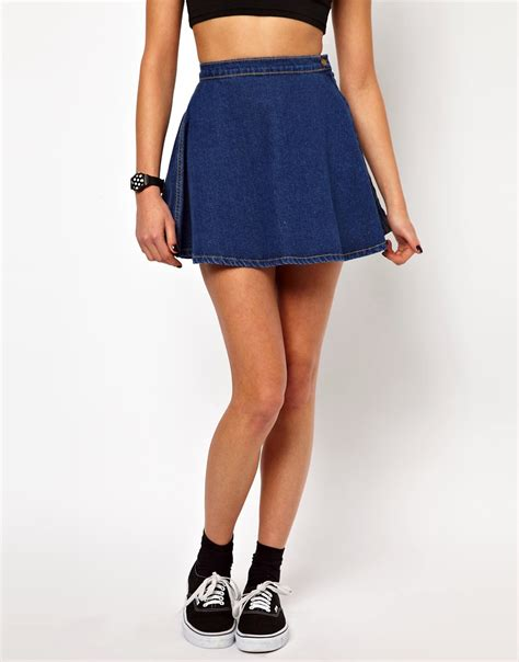 american apparel american apparel denim circle skirt at asos