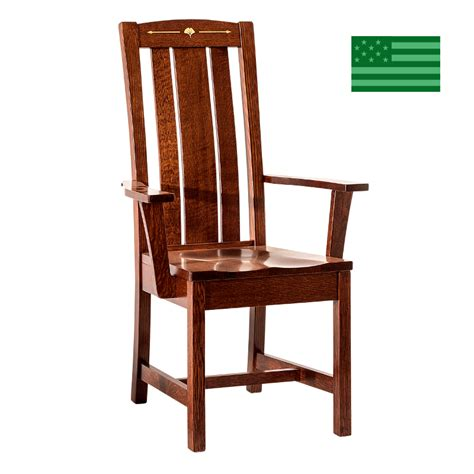 Dining Chairs Made In Usa Made In America Dining Chairs Amish Solid Wood Heirloom Furniture Made In Usa Manitoba Arm