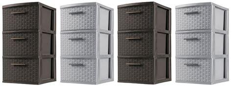 sterilite 3 drawer wide weave tower gray 3 drawer sterilite weave tower 10 82 free shipping