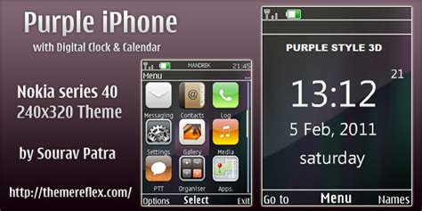 themes com nth purple iphone style theme for nokia s40 240 215 320 themereflex