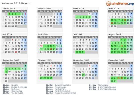 Jahreskalender 2019 Nrw Kalender 2019 Ferien Bayern Feiertage