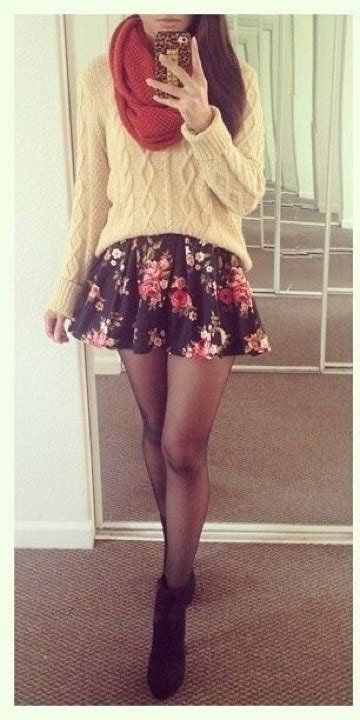 cute floral skirt outfits for teens sweater and skirt 29 chic fall outfits for teens
