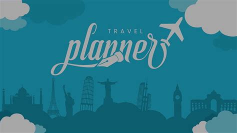 travel themed powerpoint template travel planner powerpoint template