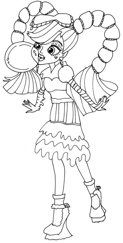 cleo de nile little girl monster high coloring page rkomitet org